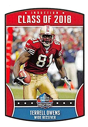 2018 Panini NFL Stickers Collection  6 Terrell Owens San Francisco 49ers  Official Football Sticker ea89ed415