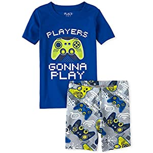 The Children's Place Boy's Sleeve Graphic Pajama Short Set