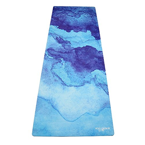 YOGA DESIGN LAB THE COMBO YOGA MAT by Eco Luxury Mat/Towel that Grips the More You Sweat | Designed in Bali | Ideal for Hot Yoga, Bikram, Pilates| Includes Carrying Strap! (Uluwatu, 70 x 24)