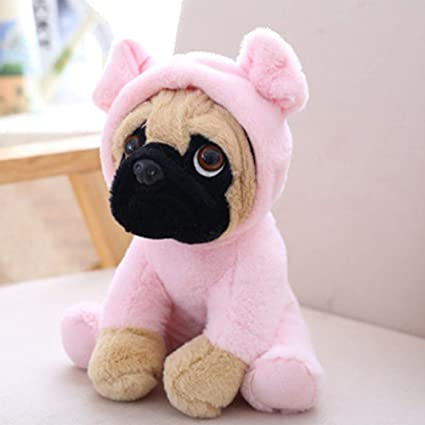 EDTara 20CM Stuffed Simulation Dogs Plush Sharpei Pug Lovely Puppy Pet Toy Plush Animal Toy Kid Children Birthday Christmas Gift