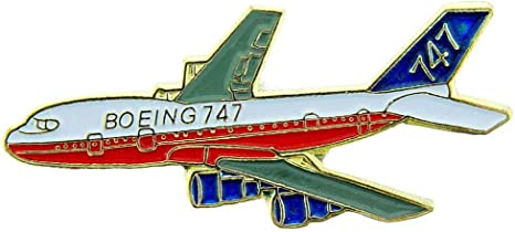 Boeing 727 White Commercial Aircraft Airplane Hat or Lapel Pin