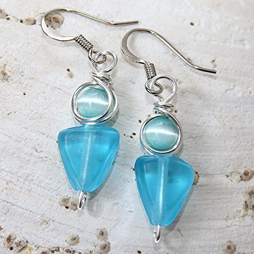 bohemian-aqua-beach-casual-wear-glass-earrings
