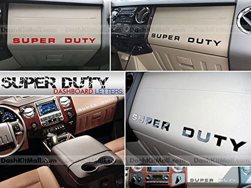 SF s USA - Chrome Letters for Super Duty 2008-2016 Dashboard Inserts Not Decals