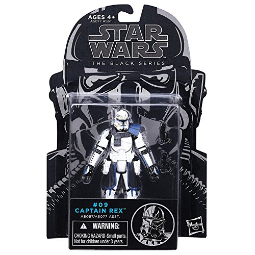 Star Wars, The Black Series, Clone Wars Captain Rex Action Figure #09, 3.75 Inches -