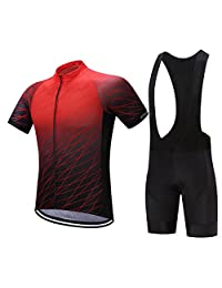 TeyxoCo Men Fashion Cycling Gel Pad Jersey Set