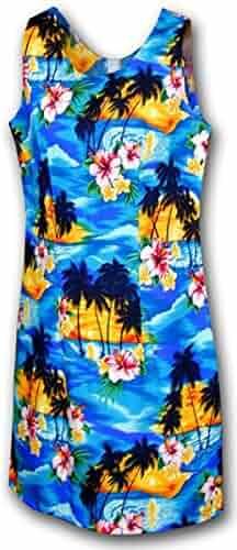 c0cba5dbcdbbe Pacific Legend Sunset Palm Hawaiian Dress - Womens Hawaiian Dress - Aloha  Dress - Hawaiian