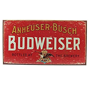 Red budweiser tin board