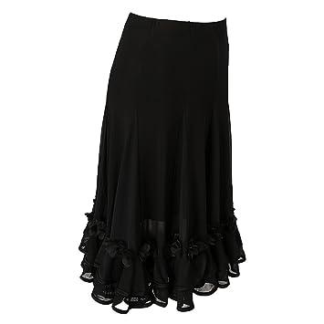 MagiDeal Jupe Danse Orientale Femme Jupe Gitane Longue Robe Longue Jupe De  Danse - Noir 1 a82b8e4ae0b