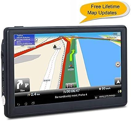 Car GPS Spoken Turn- to-turn Vehicle GPS Navigator Lifetime Map Updates Navigation System for Cars 7 inch SAT NAV