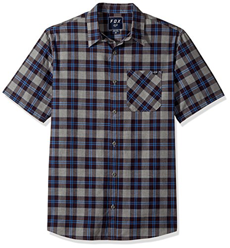 Edwards Short Sleeve Oxfords (Fox Men's Raggs Short Sleeve Woven, Midnight, X-Large)