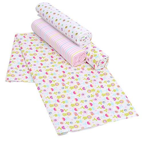 Koala Baby Mod Floral 4 Pack Flannel