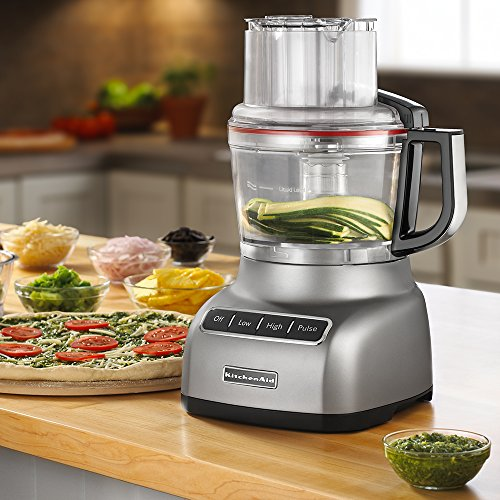 KitchenAid KFP0922CU 9-Cup Food Processor with Exact Slice System - Contour Silver by KitchenAid (Image #4)