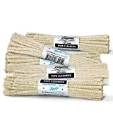 tapered pipe cleaners - Beamer 6 Inch Unbleached Soft Pipe Cleaners, 264 Pieces, 6 Bundles - 100% Cotton, Extra Absorbent, Tapered, No Colors Or Dyes, Bendable, Reusable + Beamer Smoke Collectible Sticker
