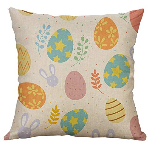 Easter Gift! ! !Redvive Top Cotton Linen Square Home Decorative Throw Pillow Case Sofa Waist Cushion Cover
