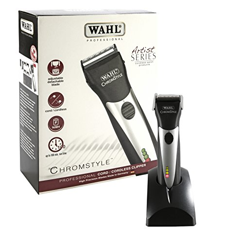 (Wahl Professional Artist Chromestyle Pro Cord/Cordless Clipper 8548-100, For Professional Stylists and Barbers, 120V, 60Hz)