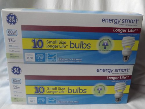 GE Energy Smart Spiral Bulbs