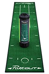 Take your putting to the next level with the brand new deluxe Putting Mat from PuttOUT. 40% of all shots on the course are made with the putter - Up your training with putt repetition practice to reduce your number of putts and see dramatic i...