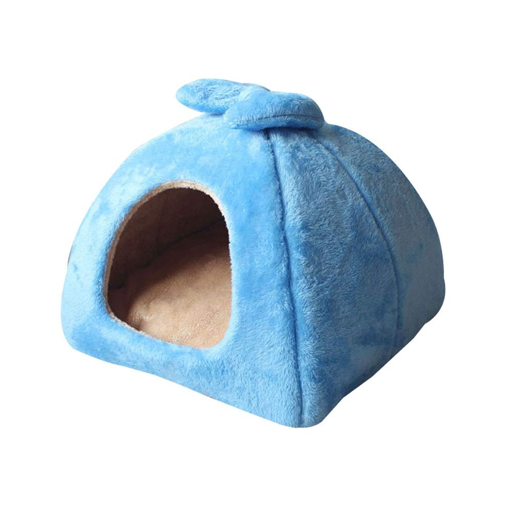 bluee 434336cmSoft and Comfortable Pet Bed Small pet Sleeping Bag pet pad Dog pad Cat's Home Dog House Pet cat Dog cave (bluee, Brown, Pink) (color   Brown, Size   53  53  42cm)