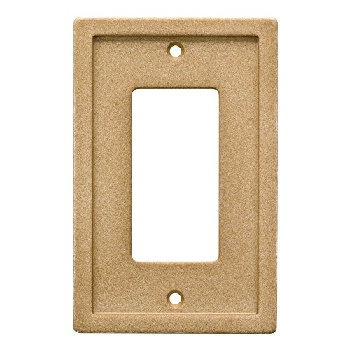 Franklin Brass W30353-365-C Tumbled Textured Tile Single Rocker Faux Stone Wall Plate/Switch Plate/Cover, Dark Sand (Faux Tile Stone)