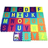 Jiyaru Kids Puzzle Play Mat Toddlers Exercise Floor Mat Safety EVA Foam Playmat 26pcs Letter