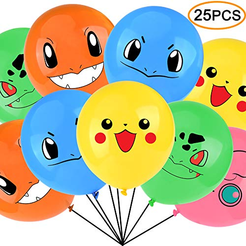 Video Game Birthday Balloons 12 Inch Size 25pcs Includes 5 Styles for $<!--$14.99-->
