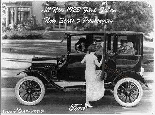 1923 Ford Model T 5 Passenger Sedan Vintage Advertising Model A Ford 13x19 Poster Print ()