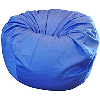 Superbe Ahh! Products Blue Organic Cotton Large Bean Bag Chair