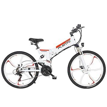 YRWJ Bicicleta De Montaña Eléctrica Bicicletas Plegables Al Aire Libre De Gran Capacidad 48V 10AH Bicicleta