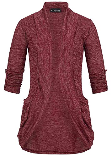violet Fashion - Cárdigan - para mujer bordeaux rot melange