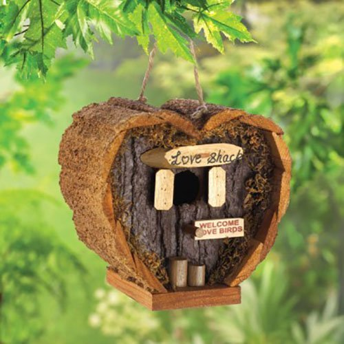 Love Shack Rustic Wood Mini Bird House