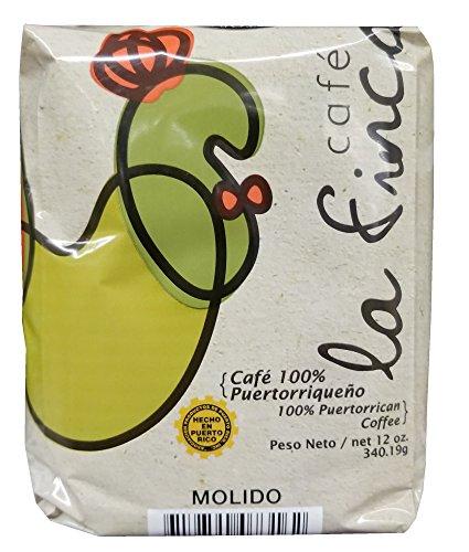 Cafe La Finca Arabica Ground Coffee 100% Coffee From Puerto Rico 12 ounces