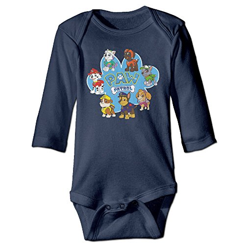 [NINJOE Newborn Babys Paw Dog Patrol Long Sleeve Romper Bodysuit Outfits Navy 24 Months] (Baby Ruth Costume)
