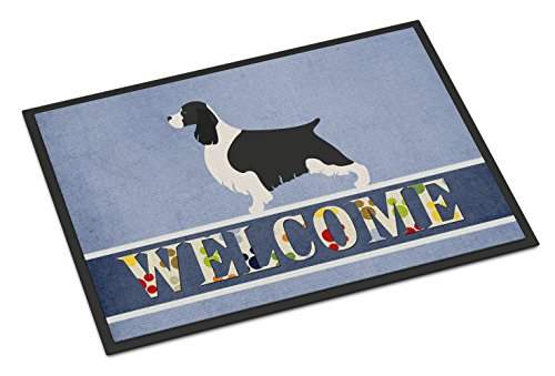 "Caroline's Treasures English Springer Spaniel Welcome Doormat, 18"" x 27"", Multicolor from Caroline's Treasures"