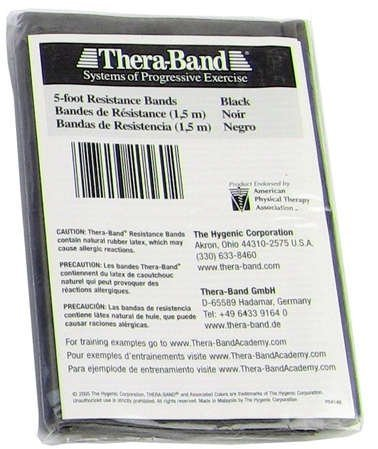 Thera Band 5 ft band Black
