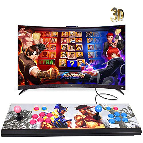 XFUNY Arcade Game Console 1080P 3D & 2D Games 2020 in 1 Pandora's Box 3D 2 Players Arcade Machine with Arcade Joystick Support Expand 6000+ Games for PC / Laptop / TV / PS4 (KOF) ()