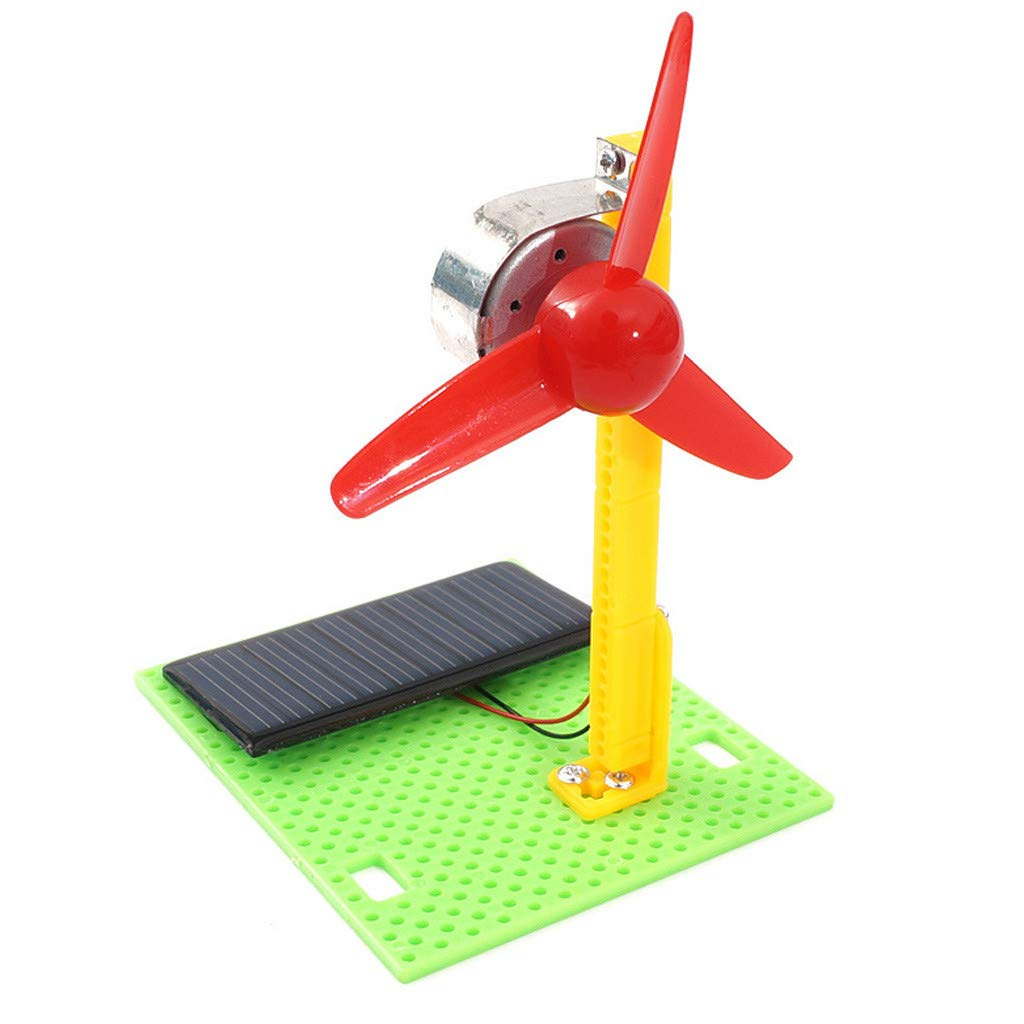 ZJE Solar Panel Powered Fan, USB Solar Powered Panel Iron Fan Model Assemble Building Kits Science Experiment Creative Discovery Kids Toy DIY Educational For Home Office Outdoor Traveling Fishing