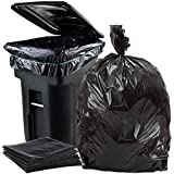 Plasticplace 95-96 Gallon Garbage Can Liners │ 2 Mil │ Black Heavy Duty Trash Bags │ 61' x 68', 25 Count