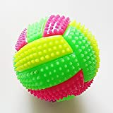 NANAD Luminous Ball Glowing Volleyball Hedgehog Ball Flashing Light Up Color Changing Bouncing Hedgehog Ball Dog Cat Pet LED Squeaky Chewing Ball