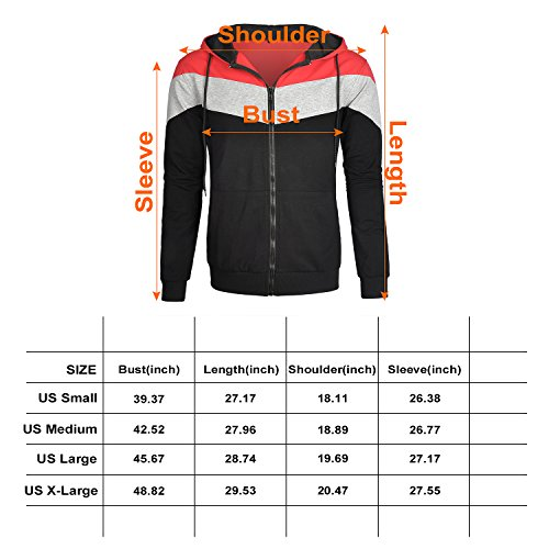 29c267d8 Aeropost.com Barbados - Mooncolour Mens Novelty Color Block Hoodies ...