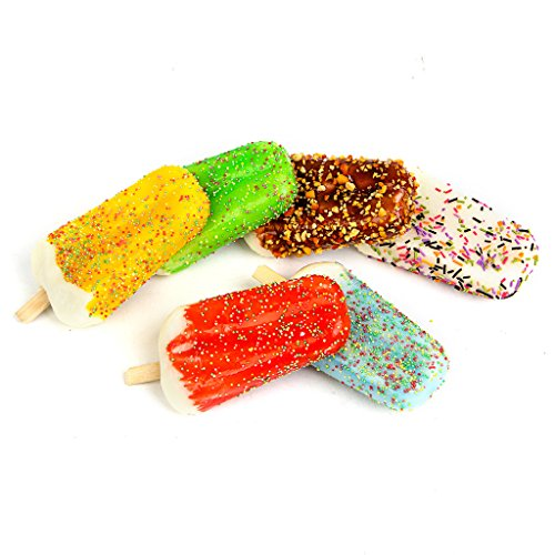 Fake Ice Cream 6 Simulation Sprinkle Artificial Food Cake Kitchen Toy Decoration 6pcs