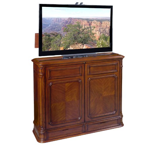 TVLiftCabinet Crystal Pointe 360 Swivel TV Cabinet, Brown