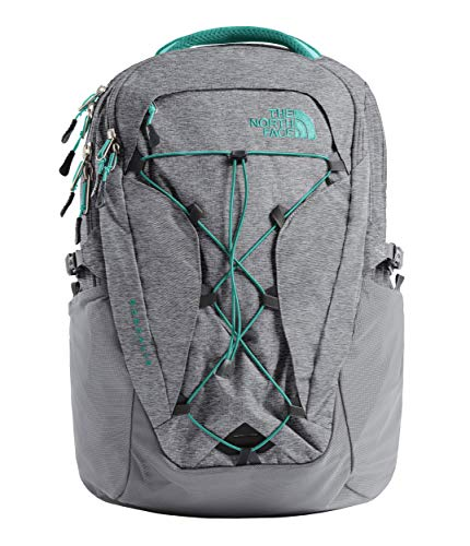 The North Face Women's Women's Borealis Zinc Grey Light Heather/Kokomo Green One Size (The North Face Borealis Backpack Zinc Grey Heather)
