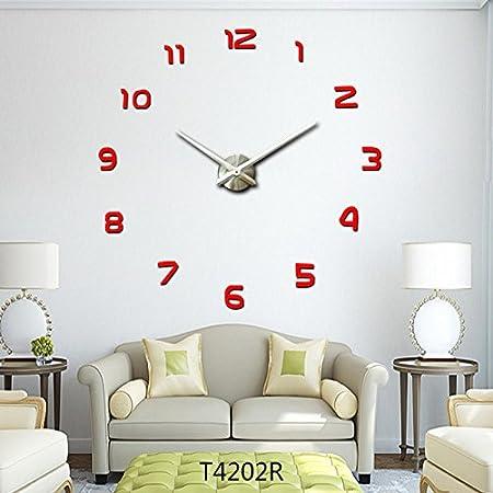 LFNRR highend local gold DIY wall sticker clock local art silver