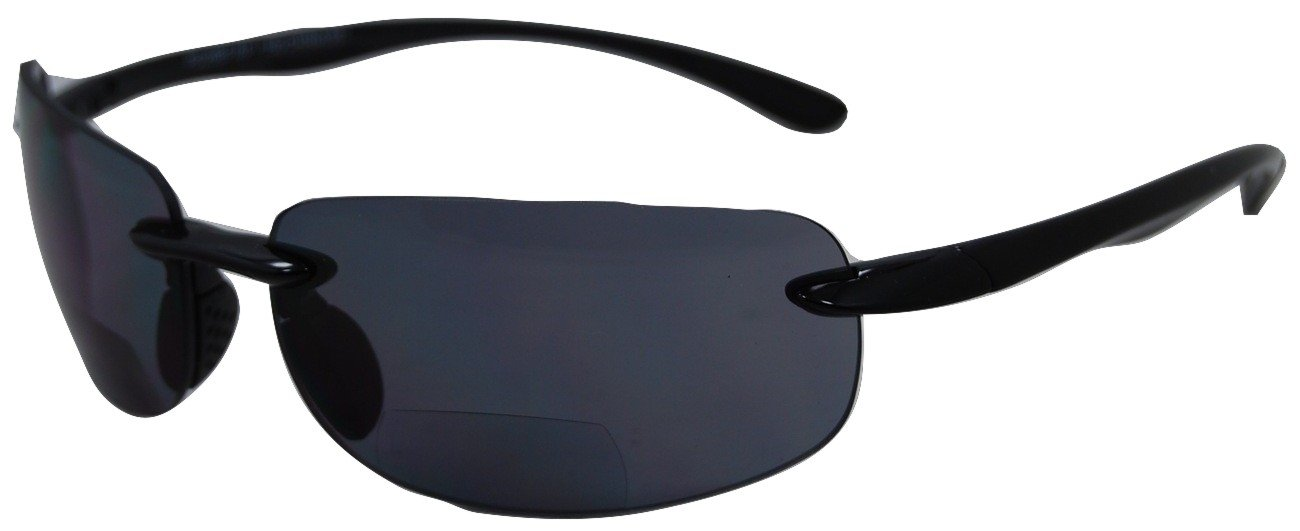 In Style Eyes – Lovin' Maui Wrap Bifocal Sunglasses – Black 2.00 by In Style Eyes
