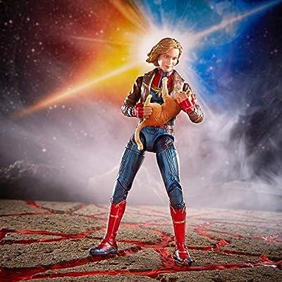 Marvel Captain Marvel 6-inch Legends Captain Marvel in Bomber Jacket Figure for Collectors, Kids, and Fans: Toys & Games