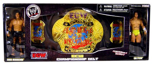 Wwe Wrestling Exclusive Ecw Championship Belt With John Morrison And