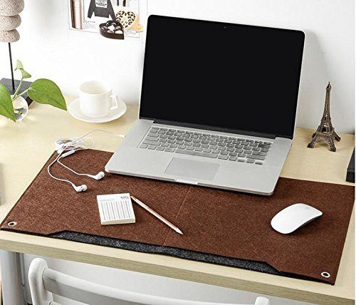 Richoose Felt Desk Mat Multifunctional Felt Computer Desk Pad Oversized Mouse Pad for Computer Laptop Keyboard