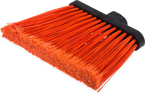 Carlisle 3686724 Duo-Sweep Flagged Angle Broom Head, 12'' Width, Orange (Pack of 12) by Carlisle