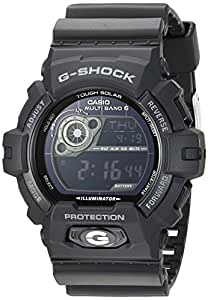 Casio Men's 'G-Shock' Quartz Stainless Steel and Resin Casual Watch, Color:Black (Model: GW-8900A-1CR