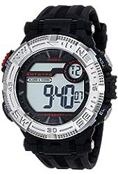 Armitron Sport Men's 40/8336BLK Silver-Tone Accented Digital Chronograph Black Resin Strap Watch